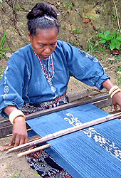 Ikat weaving in Sikka. Kelimutu Indonesia Flores Island Volcano Maumere Beach Volcano Kelimutu near Maumere